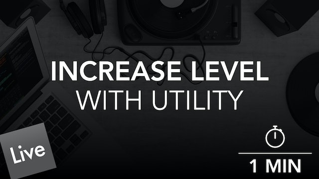 Increase Level With Utility