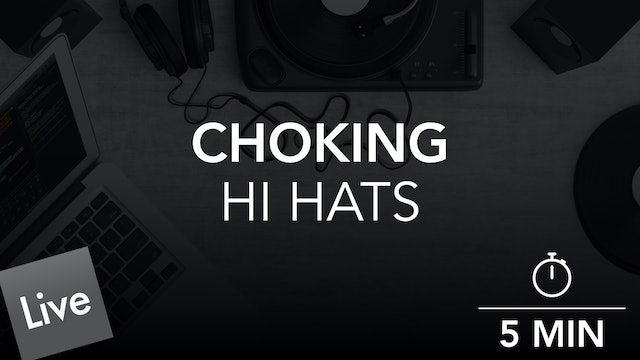 Separate Hi Hat Drum Rack Pads with Choke in Live 10