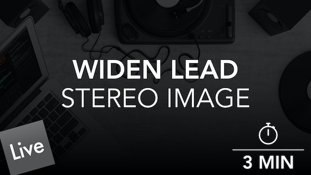 Widen the stereo image of the lead with Ozone Imager