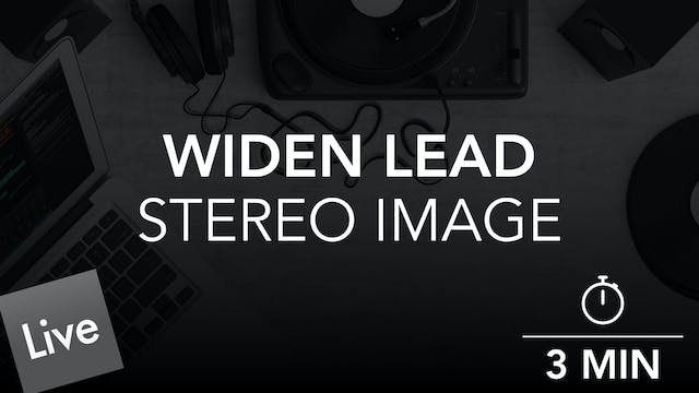 Widen the stereo image of the lead wi...