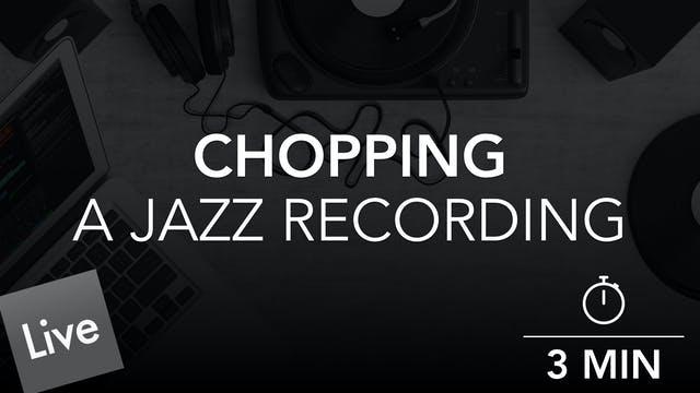 Chopping The Jazz Arrangement