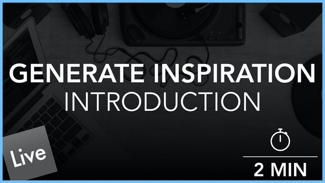 Generating Inspiration - Introduction