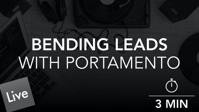Clean Up the Lead with Portamento Automation
