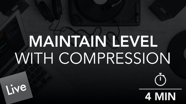 Maintain Consistent Lead Level with Glue Compressor in Live 10