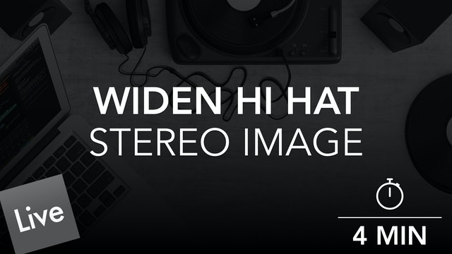 Widen the stereo image of the Closed hi hat with Ozone Imager
