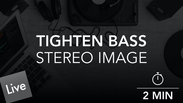 Tighten the Stereo image of the Bass with Ozone Imager