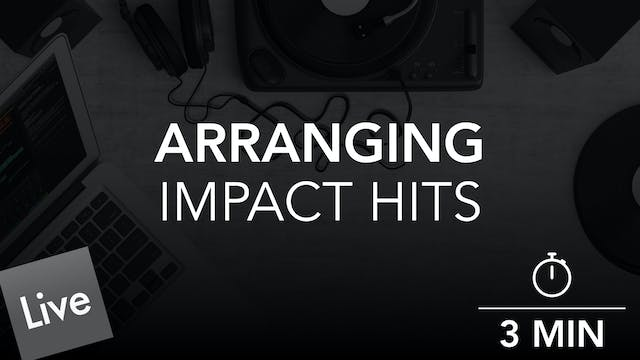 Arranging Impact Hits in Live 10