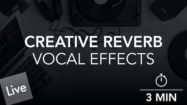 Creative Vocal Effects with Reverb Automation in live 10