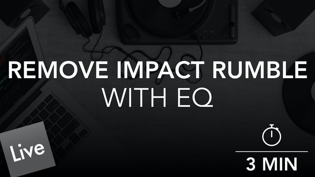 Remove Low End Impact Rumble with FabFilter Pro-Q 3