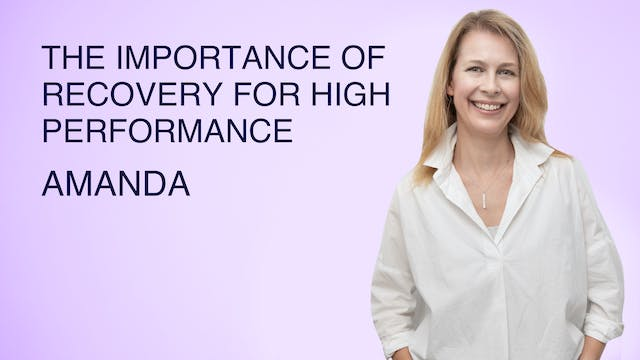 The Importance of Recovery for High P...