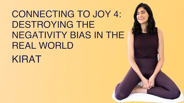 Connecting to Joy 4: Destroying the Negativity Bias in the Real World