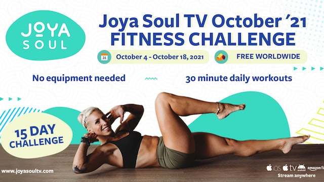 Day 15 of 15 Day October Fitness Challenge - Total Body.  YOU MADE IT!