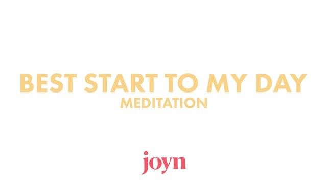 Today is MY DAY Meditation