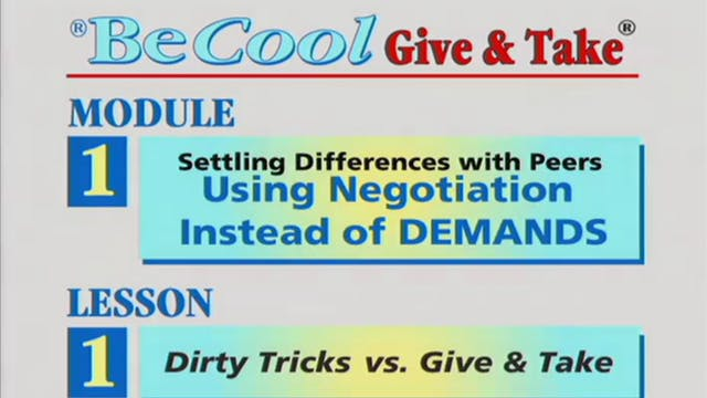BeCool G&T - Mod 1 Demands - Ep 1: Dirty Tricks