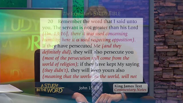 A Study in the Word - Jan. 21st, 2020