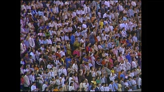 LIMA PERU - 01/10/1986 FRIDAY CRUSADE