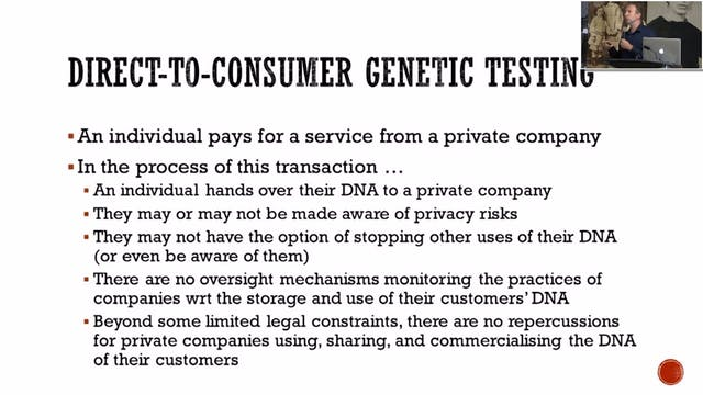 Part 6 - Privacy and Genetic Genealogy by Kieran O'Doherty