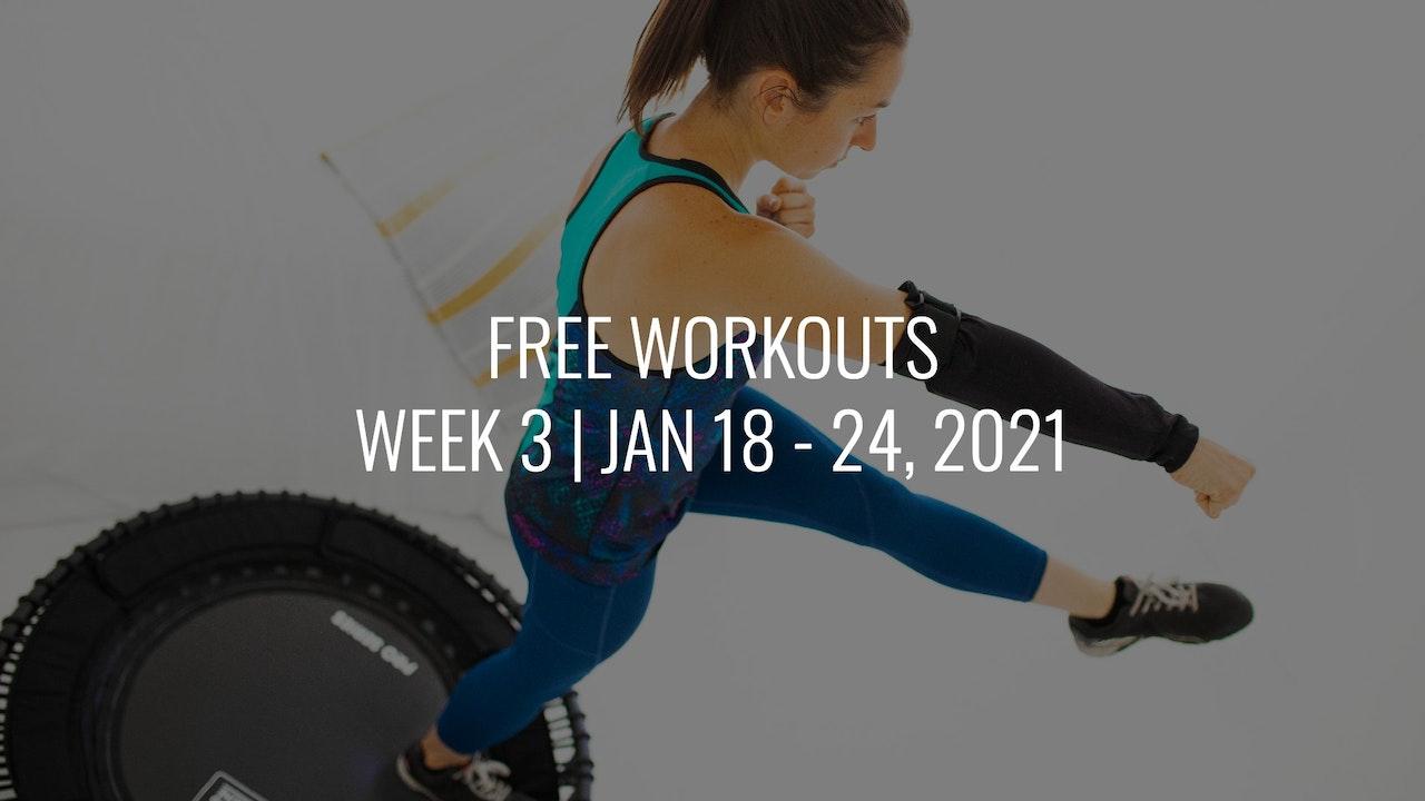 FREE Week 3 | Jan 18 - 24, 2021