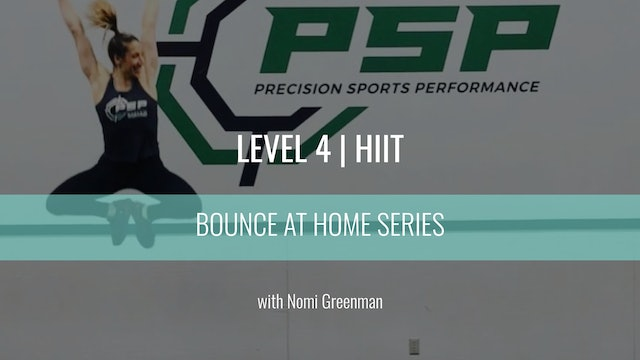 Level 4 | HIIT | Nomi Greenman | Bounce At Home
