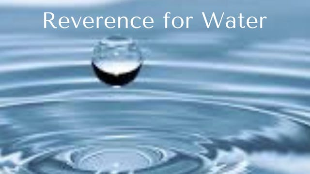 Reverence for Water
