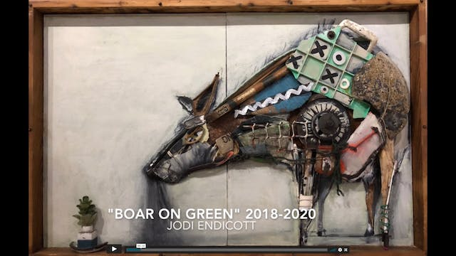 Boar on Green 2020 by Jodi Endicott