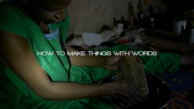 How to Make Things with Words