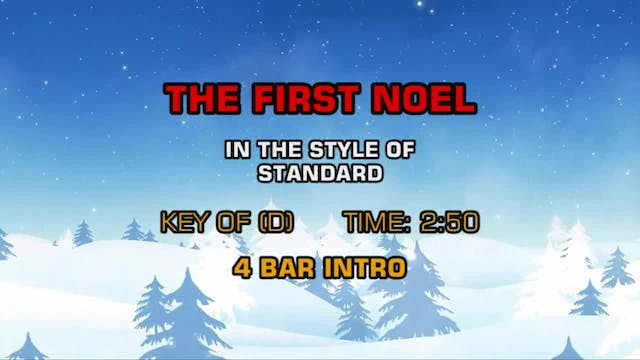 Standard Christmas - First Noel, The