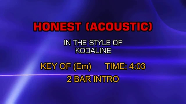 Kodaline - Honest (Acoustic Version)