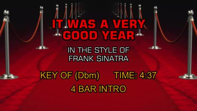 Frank Sinatra - It Was A Very Good Year