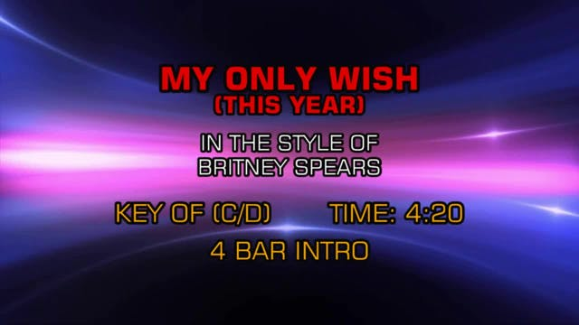 Britney Spears - My Only Wish (This Y...