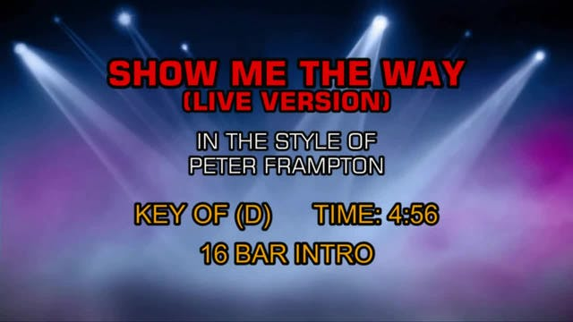 Peter Frampton - Show Me The Way (Liv...