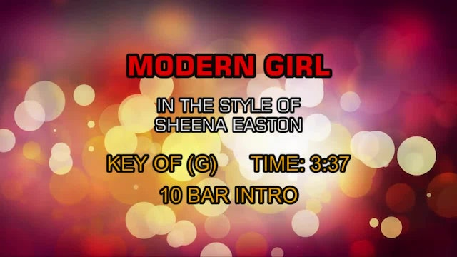 Sheena Easton - Modern Girl