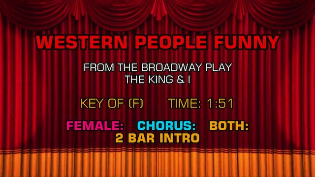 The King & I - Western People Funny