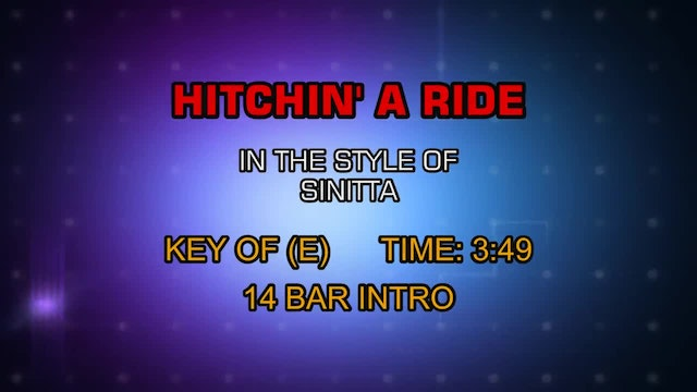 Sinitta - Hitchin' A Ride