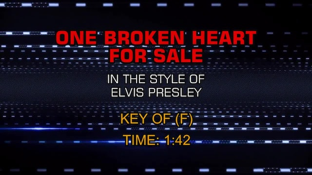 Elvis Presley - One Broken Heart For Sale