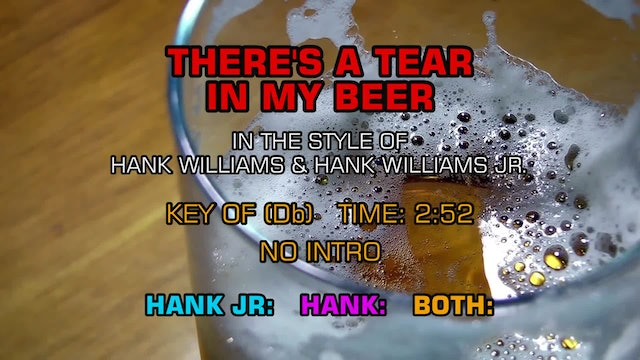 Hank Williams Sr. & Hank Williams Jr. - There's A Tear In My Beer