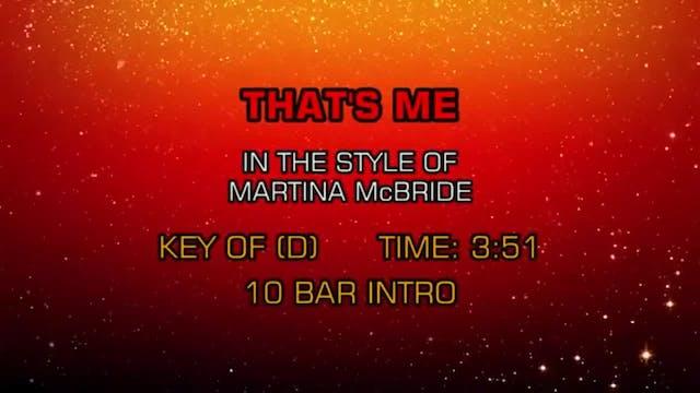 Martina McBride - That's Me