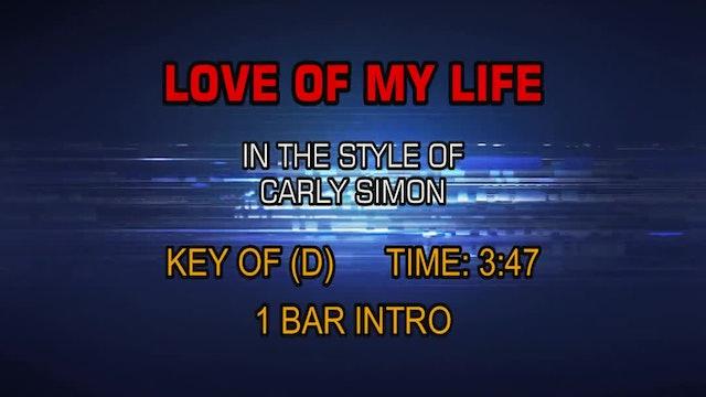 Carly Simon - Love Of My Life