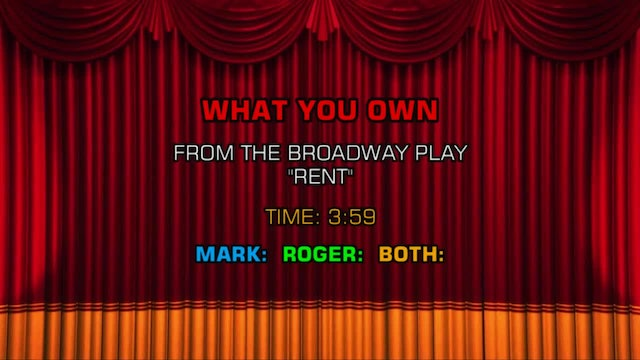 Songs From Rent - What You Own