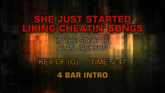 Alan Jackson - She Just Started Liking Cheatin' Songs