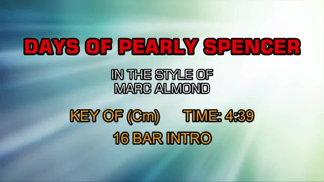 Marc Almond - Days Of Pearly Spencer