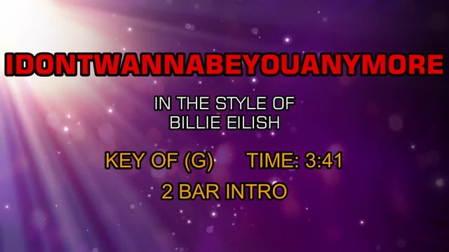 Billie Eilish - Idontwannabeyouanymore