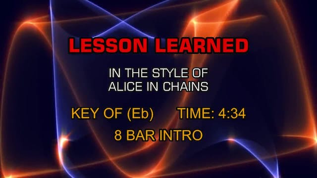 Alice In Chains - Lesson Learned