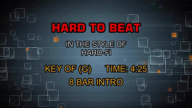 Hard-Fi - Hard To Beat