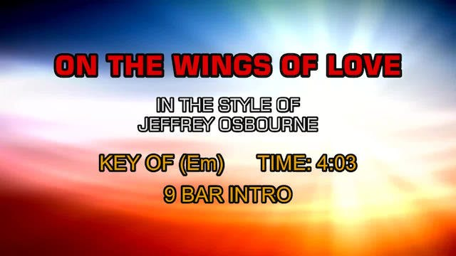Jeffrey Osbourne - On The Wings Of Love