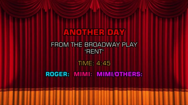 Songs From Rent - Another Day