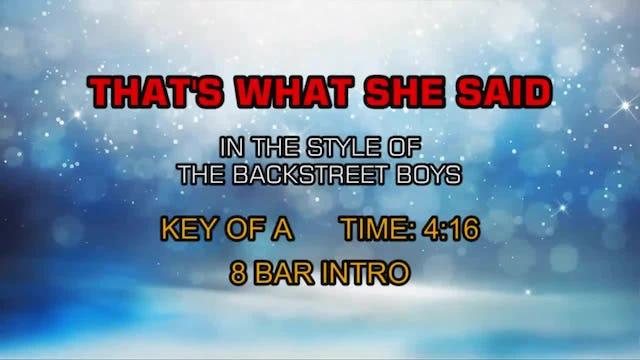 Backstreet Boys, The - That's What She Said