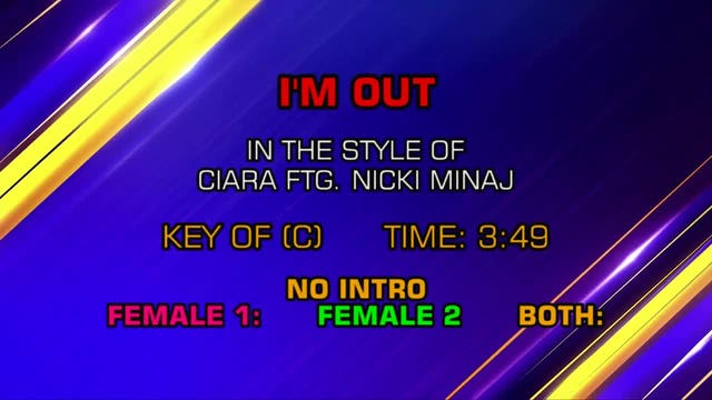 Ciara ftg. Nicki Minaj - I'm Out