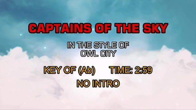 Owl City - Captains Of The Sky