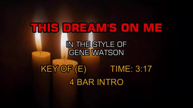 Gene Watson - This Dream's On Me